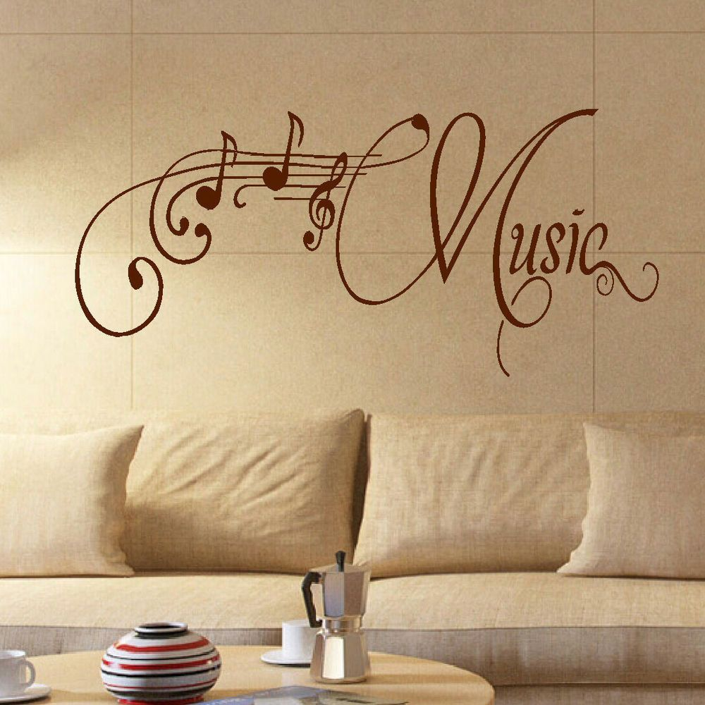 Large music room wall quote giant art sticker transfer decoration ...
