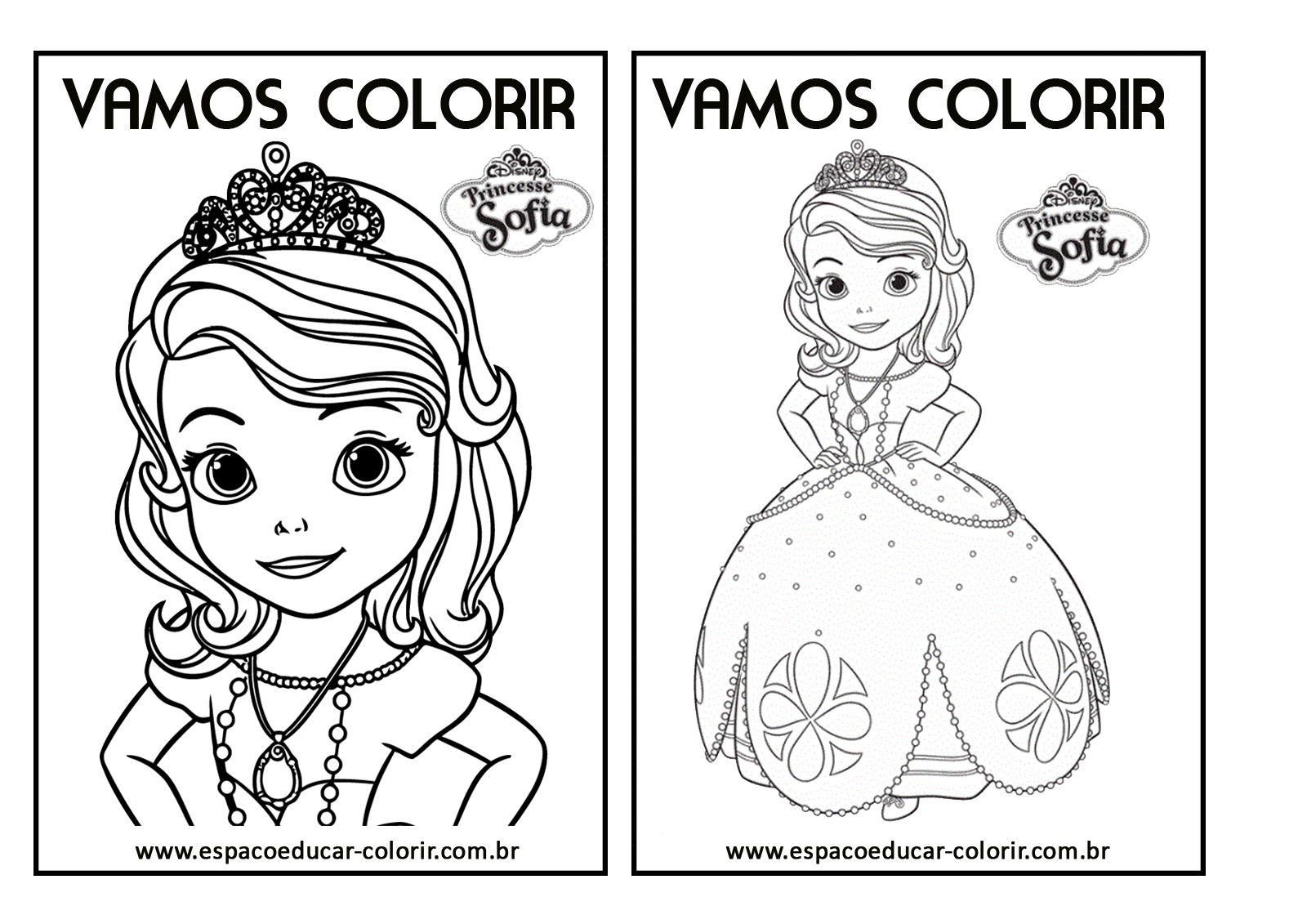 Livro De Colorir Da Princesinha Sofia Princesa Sofia Pintar
