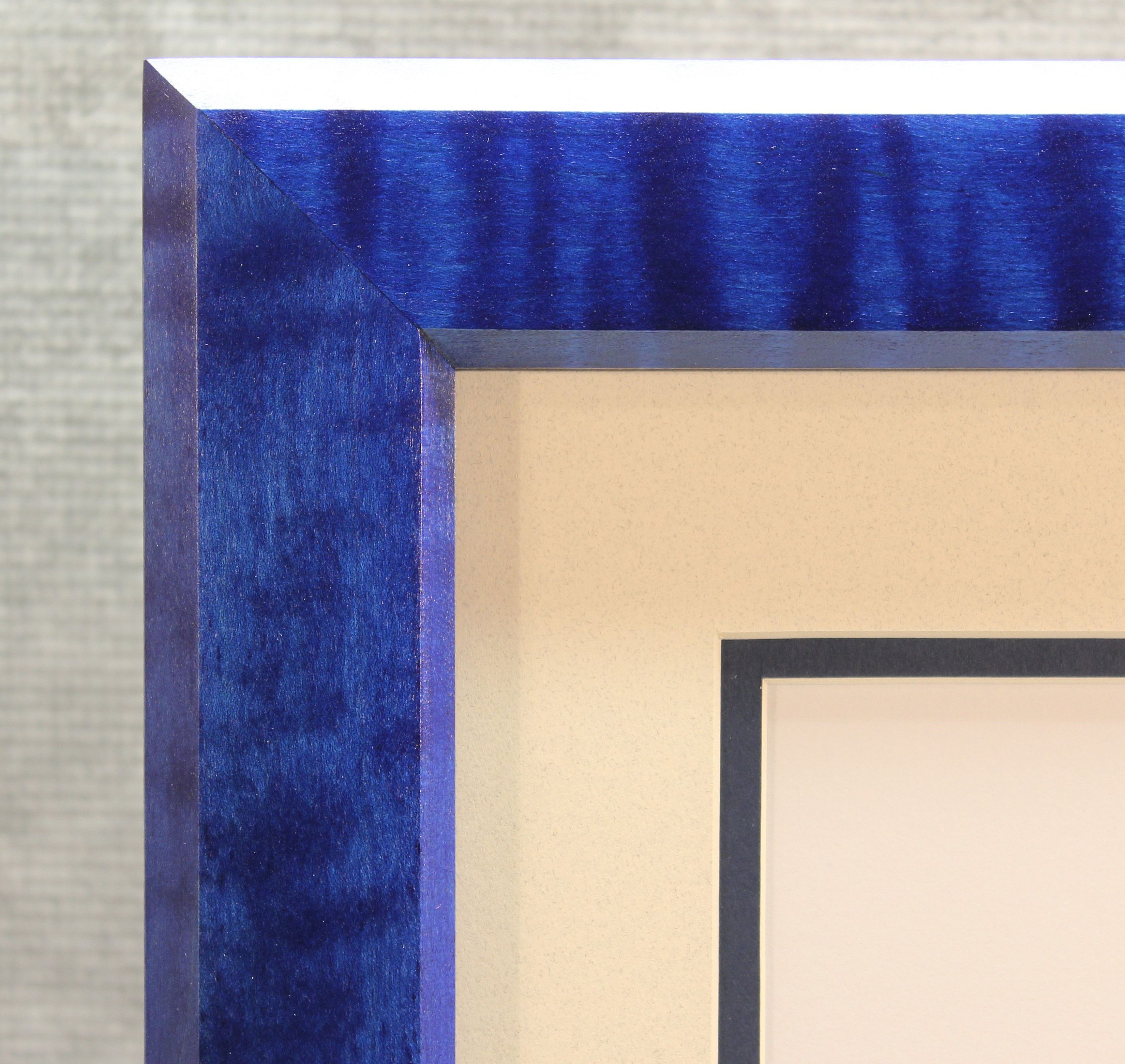 Diploma Frame Beautiful Blue Solid Tiger Maple 8 12 X 11