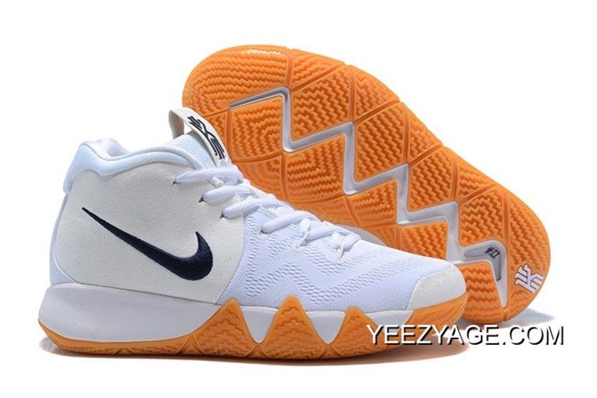 1c981e7cd93b New Release Nike Kyrie 4 White Gum-Deep Blue
