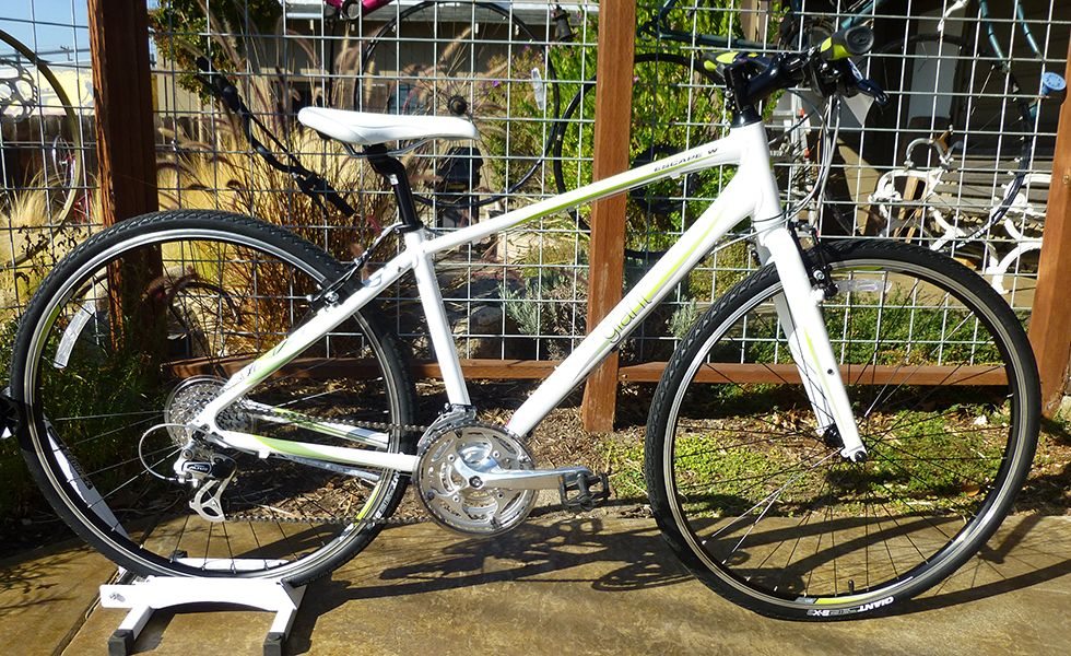 Giant Escape 2 W With Its Light Aluxx Aluminum Frame And Upright Flat Bar Positioning Escape W Is Comfortable Enough To Cr Cyclery New Bicycle White Silver