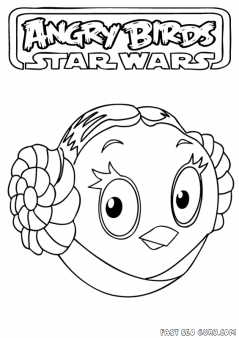 Printable Angry Birds Star Wars Princess Leia Coloring Page Printable Coloring Pages For Kids Bird Coloring Pages Angry Birds Star Wars Coloring Books