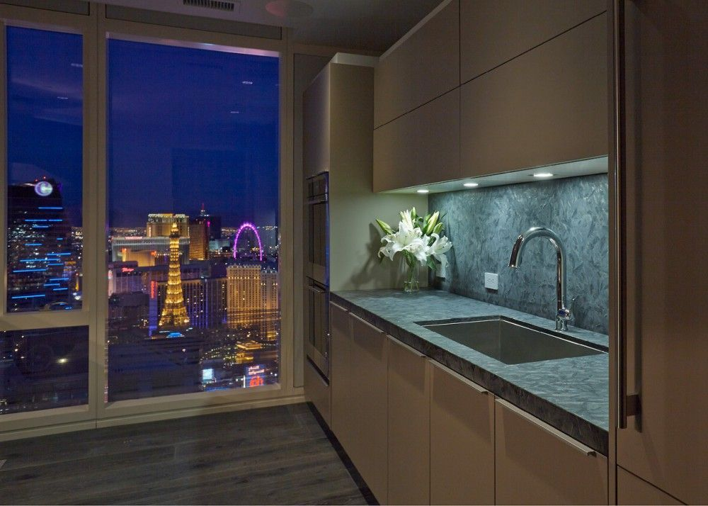 Sensate Touchless Kitchen Faucet Vault Kitchen Sink Stunning Views Of The  Strip In All Its Chaotic