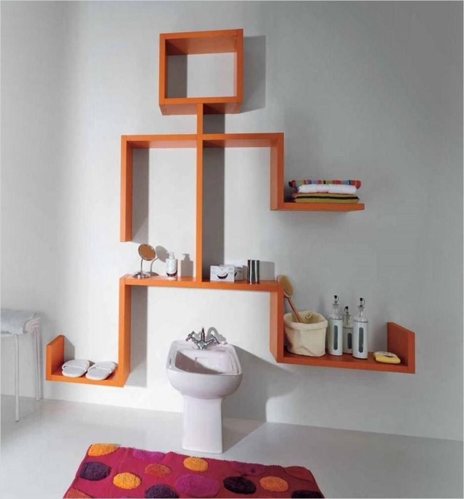 43 Creative Bathroom Shelves Decorating Ideas With Images