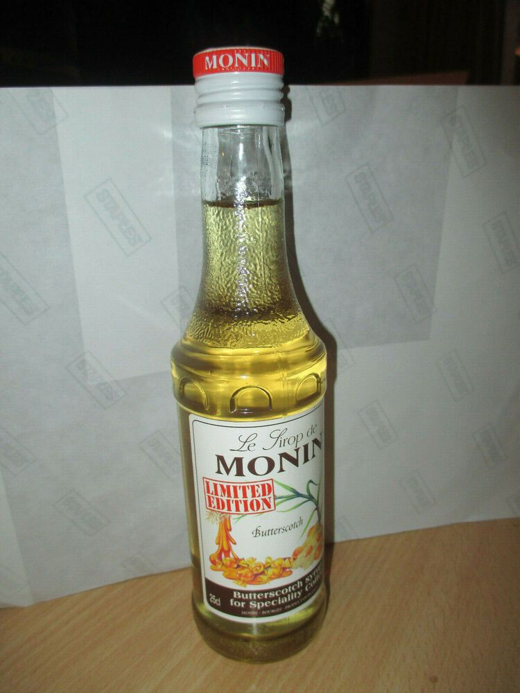 Le Sirop De Monin Butterscotch 25cl Bottle In 2019 Bottle