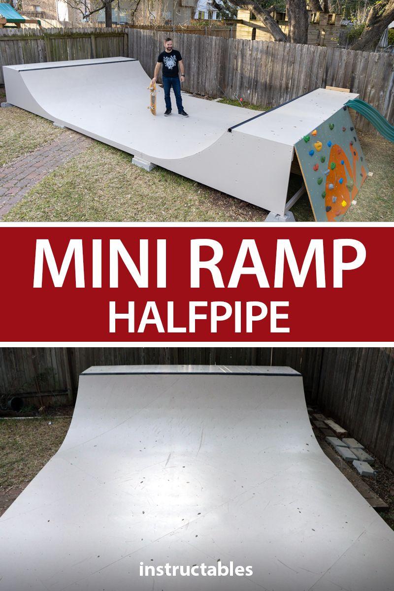How To Make A Mini Ramp Diy Halfpipe Mini Ramp Skateboard Ramps Outdoor Ramp Backyard mini ramp plans