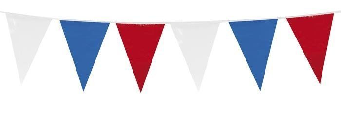 120ft plastic pennant banner red white blue uk usa gb france outdoor bunting flags banners. Black Bedroom Furniture Sets. Home Design Ideas