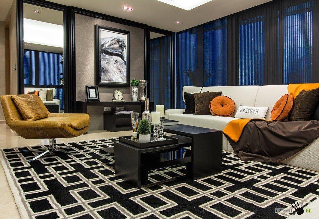 Moderne Art in einem luxuriösen Innenraum einer Wohnung in Singapur