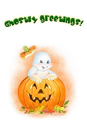 Ghostly Greetings Halloween Card Free Greetings Island Halloween Cards Free Printable Halloween Cards Happy Halloween Cards