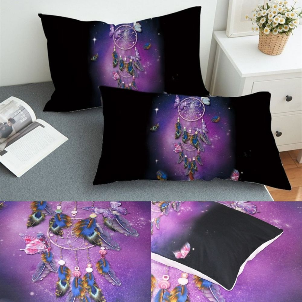Bohemian Pillowcase Set Of 2 Microfiber Pillow Case Cover Bedding King And Queen Unbranded Contemporary Sleeping Bed Covers Affordable Bedding King Beds