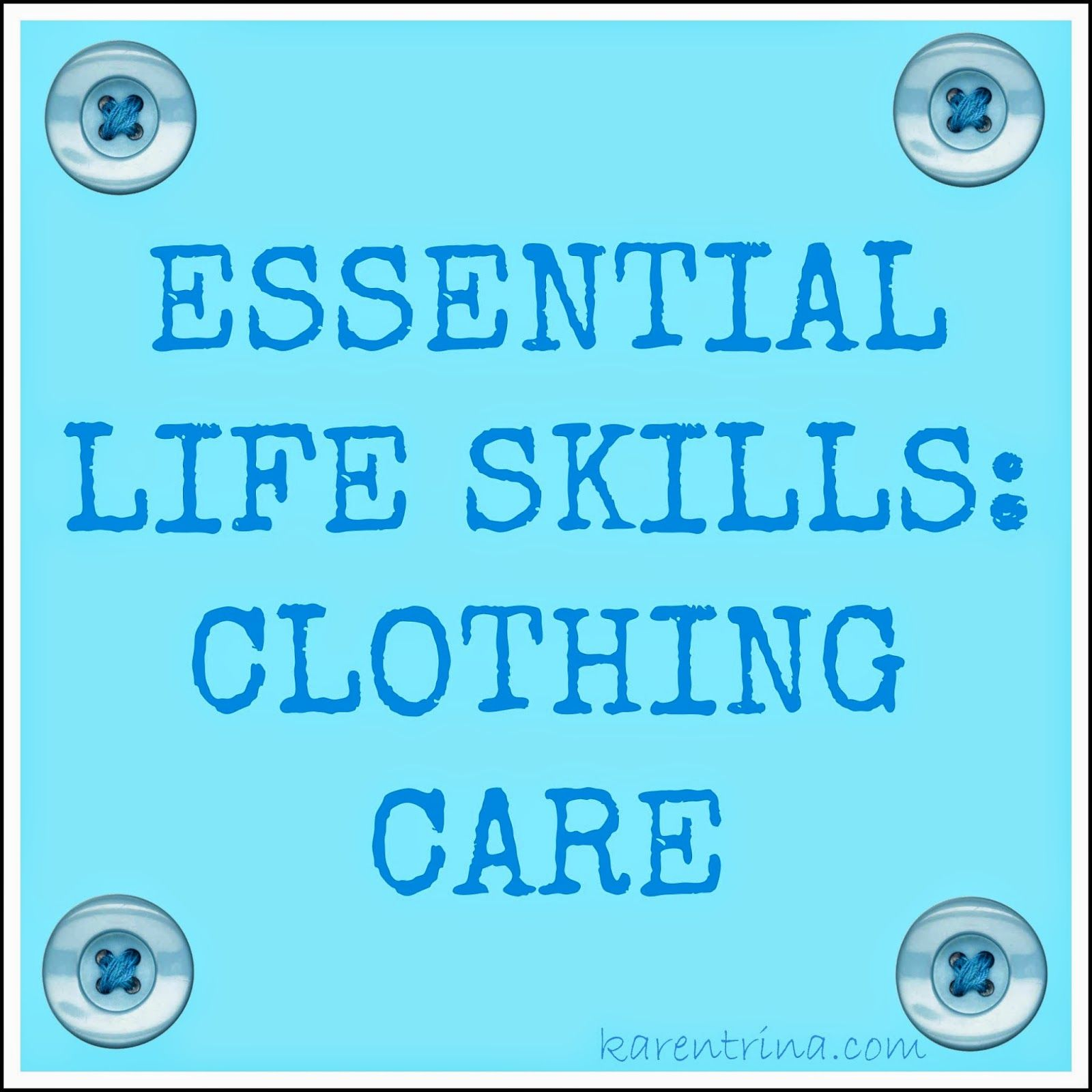 Essential Life Skills Clothing Care With Images