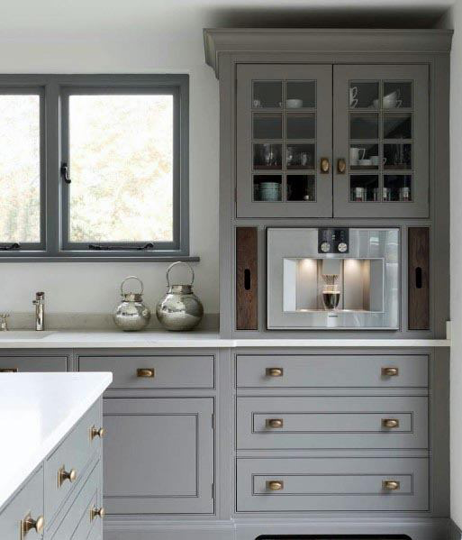 Top 50 Best Grey Kitchen Ideas - Refined Interior Designs #greykitcheninterior