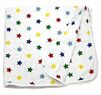 Amazon.com: Viverano Organic Cotton Soft Reversible Baby Blanket. Natural Receiving Blankets (Stars): Clothing