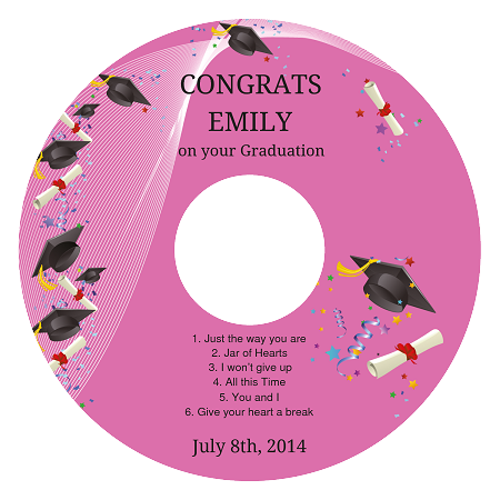 Graduation CdDvd Label Id Cd Label Size   Outside