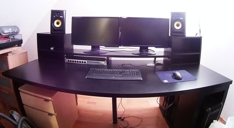 Awe Inspiring Music Producing Desk Private Recording Studio Ideas Ikea Interior Design Ideas Tzicisoteloinfo