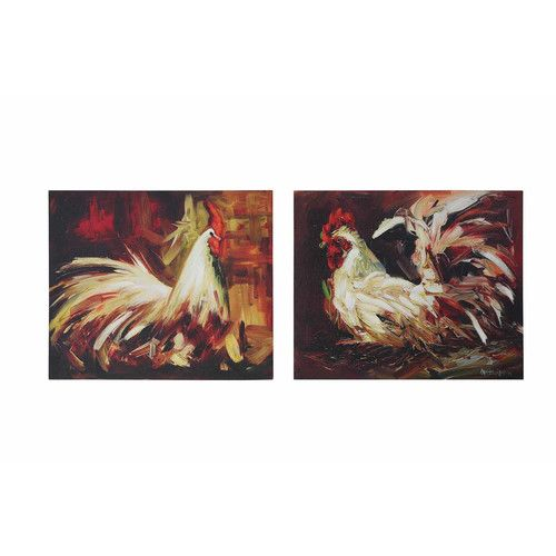 Found it at Joss & Main - Ayda 2-Piece Gallery Rooster Canvas Print Set