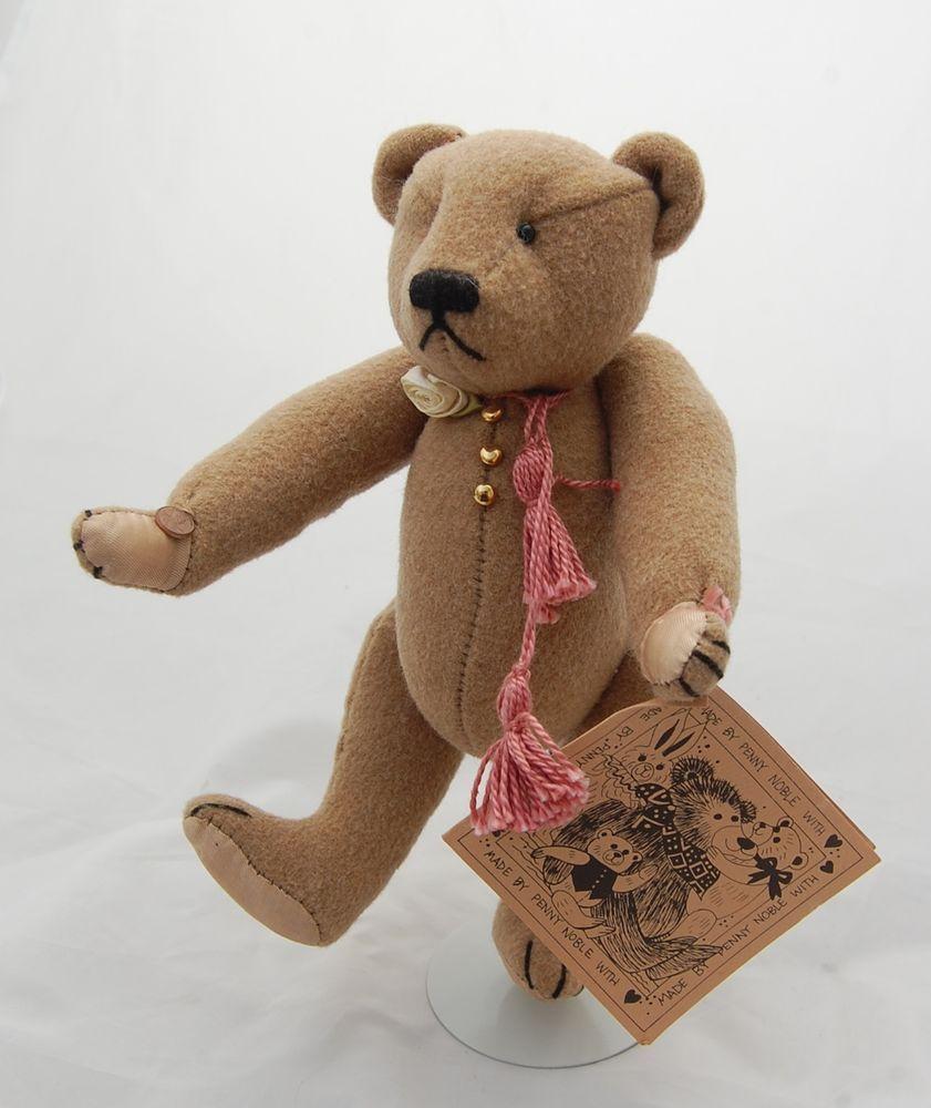 Artist Teddy Bear Brownie Created With Vintage Plusch Ooak Bears