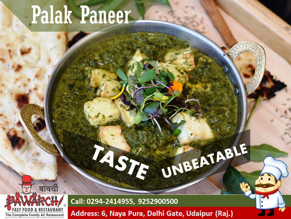 Palak Paneer Taste Unbeatable Smooth Creamy Delicious Gravy With Paneer Try Out Our Paneer Dishes And Enjoy The Taste Palak Paneer Paneer Veg Restaurant