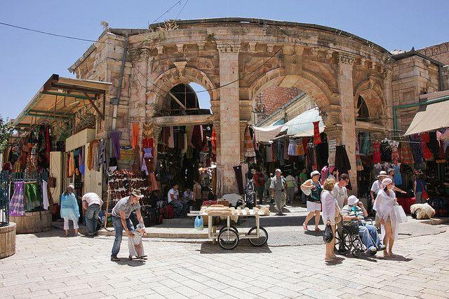 Old City Jerusalem Marketplace Jerusalem Old City Bible Land