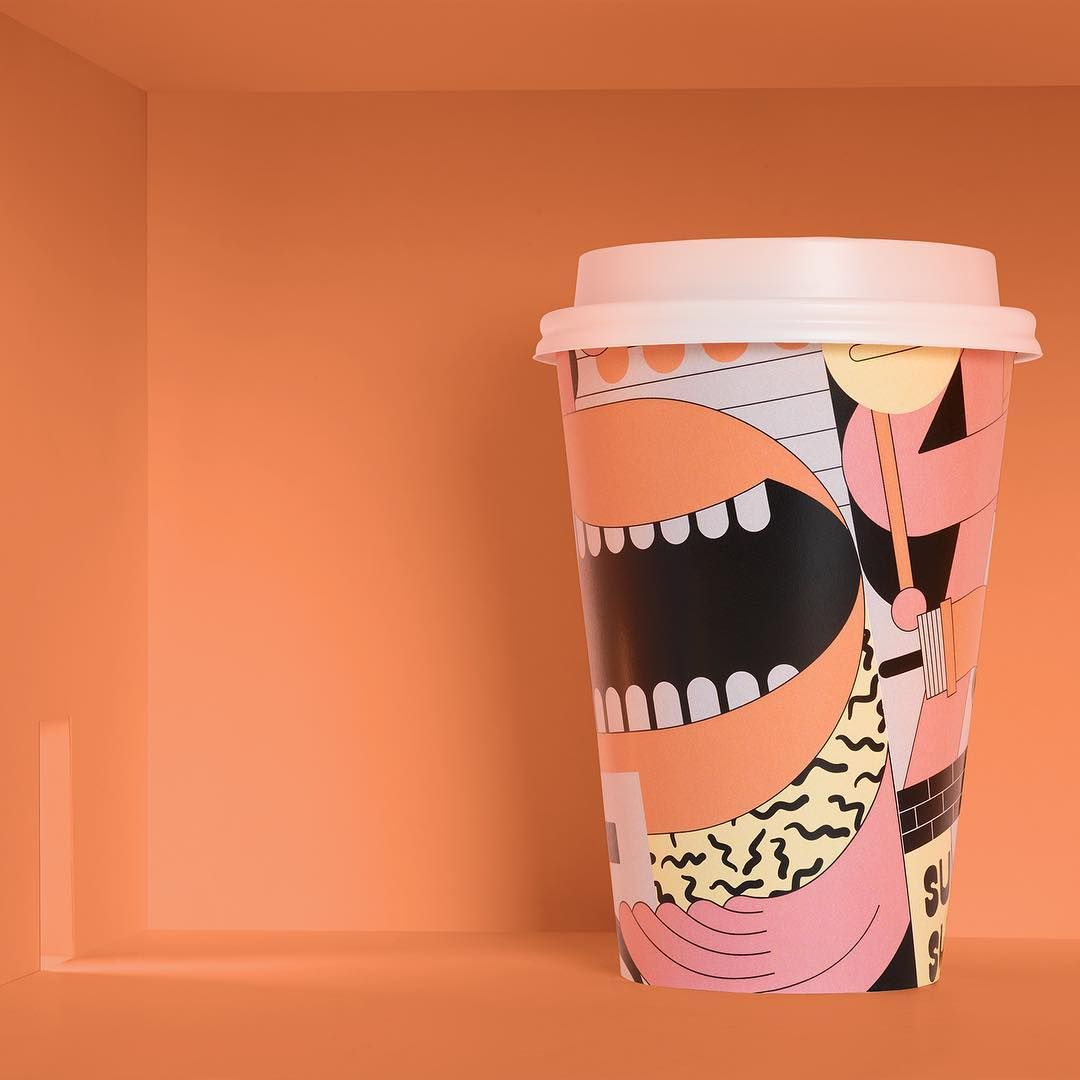 """Futura on Instagram """"Superthing, a super coffee for super"""