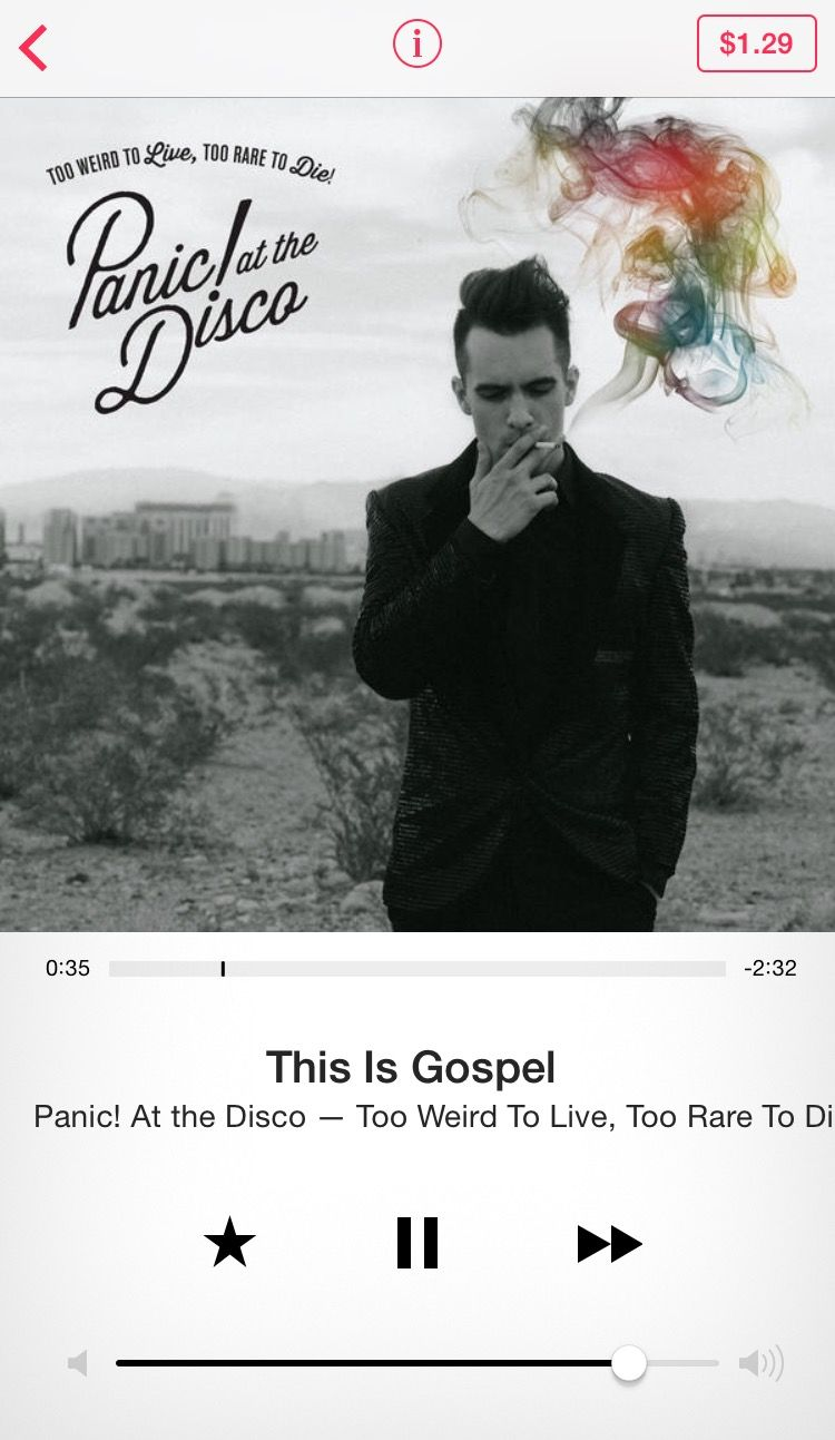 IS EVERY PANIC! AT THE DISCO SONG LIKE THIS? IF SO, LET ME BUY EVERYTHING THEY HAVE ON ITUNES