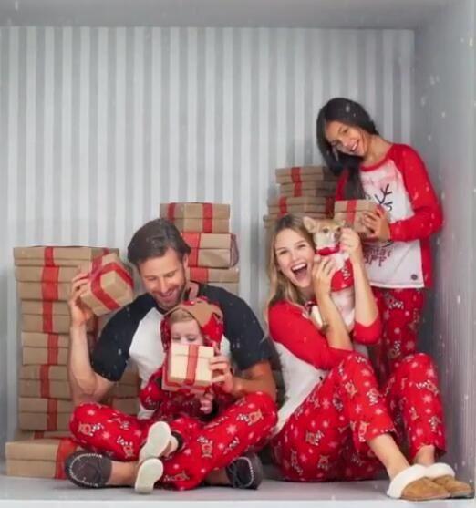2017 Family Set Christmas Deer Pajamas Family Pajamas Father Mother
