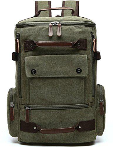 b16257e94 Yousu Canvas Backpack Fashion Travel Backpack School Rucksack Hiking ...