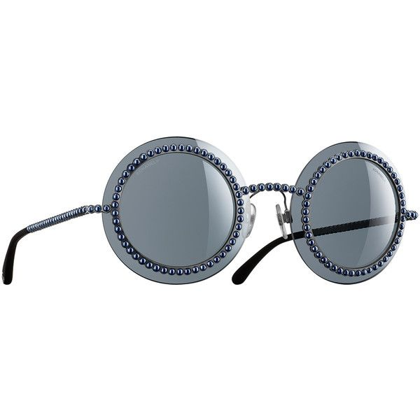 27d26d11d9 Chanel Sunglasses Silver Round Runway