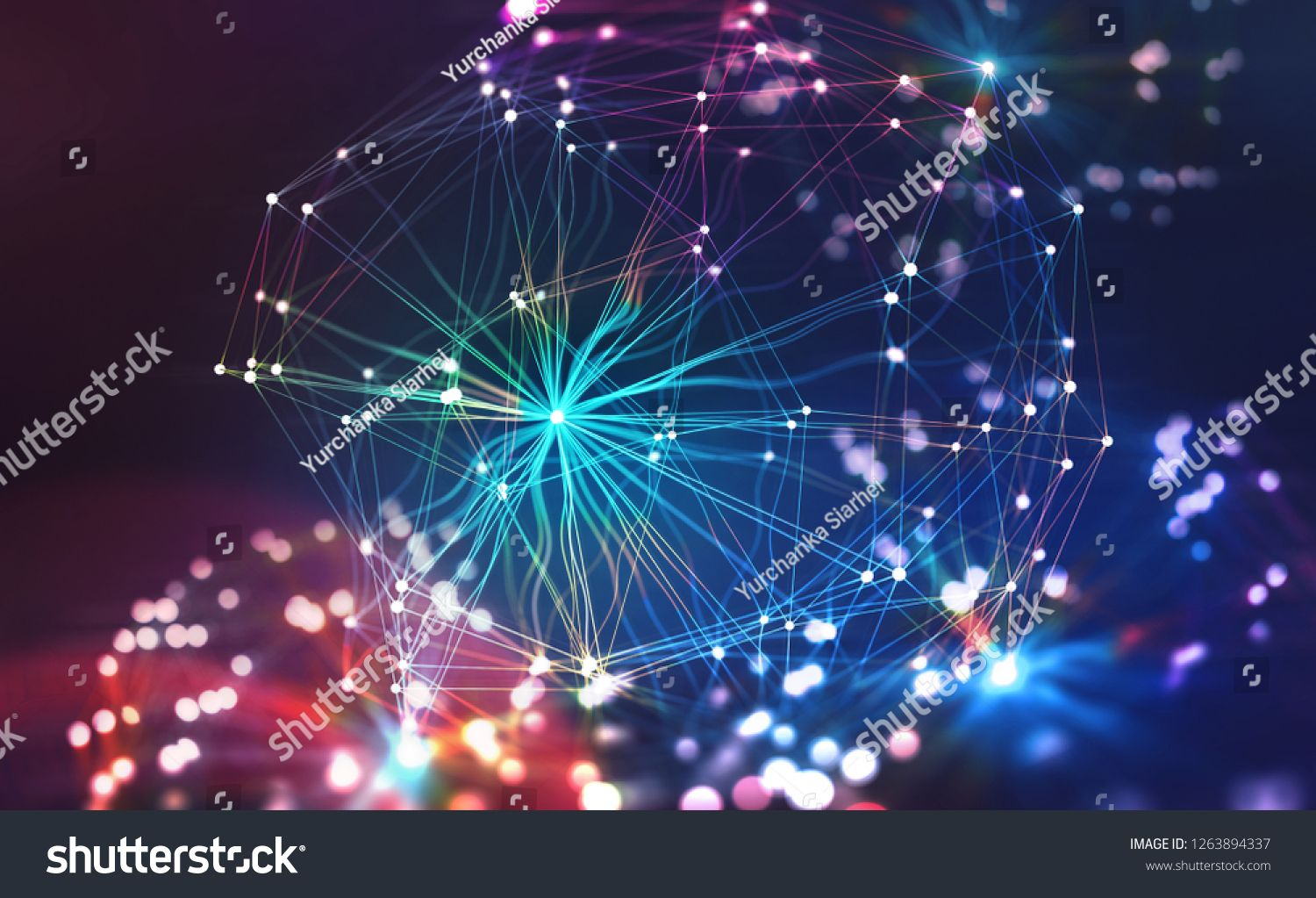 Artificial Neural Network Big Data Concept Artificial Intelligence In The Technolog Artificial Neural Network Bokeh Effect Artificial Intelligence Technology