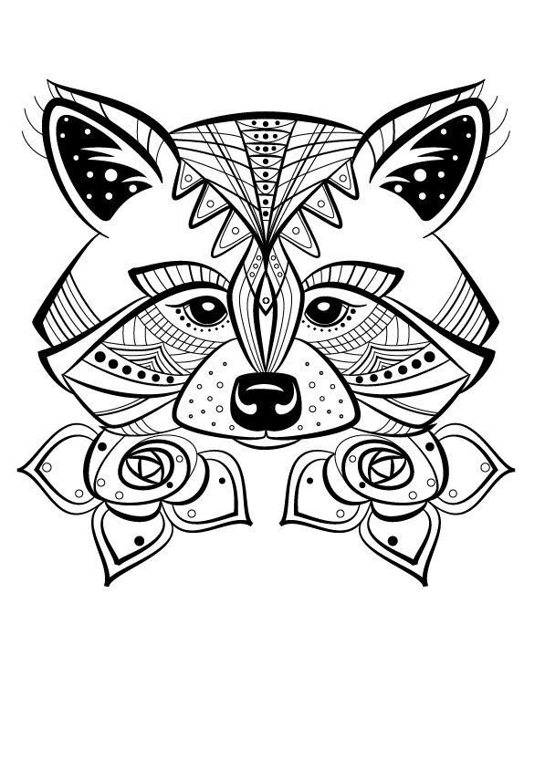 Renard colorier doodles doodles coloriage mandala animaux coloriage indien animaux - Coloriage divers a imprimer ...