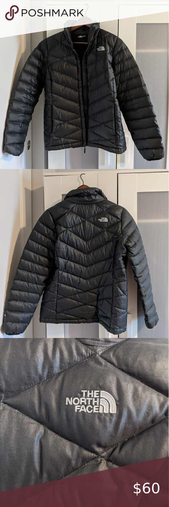 The North Face 550 Black Gray Puffer Jacket Jackets The North Face North Face Jacket [ 1740 x 580 Pixel ]