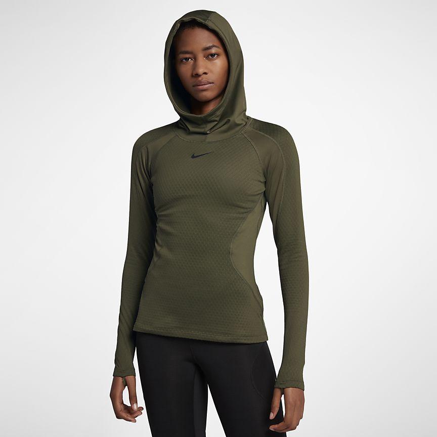 online store f1c2c fe4e7 Nike Pro HyperWarm Hooded - træningshættetrøje til kvinder