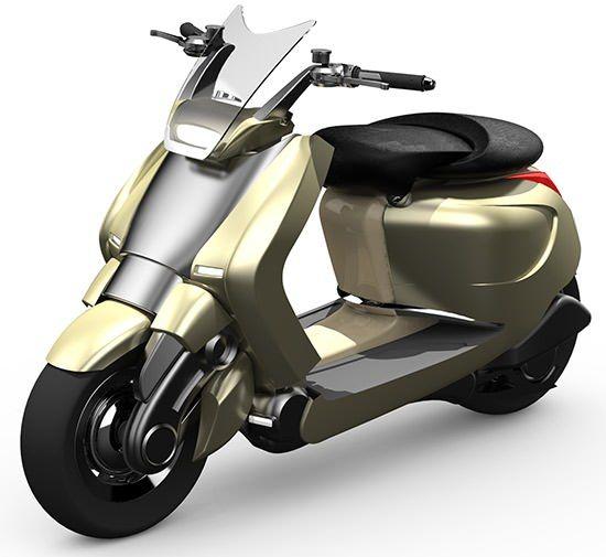 ghost ls un concept scooter lectrique de luxe scooters. Black Bedroom Furniture Sets. Home Design Ideas
