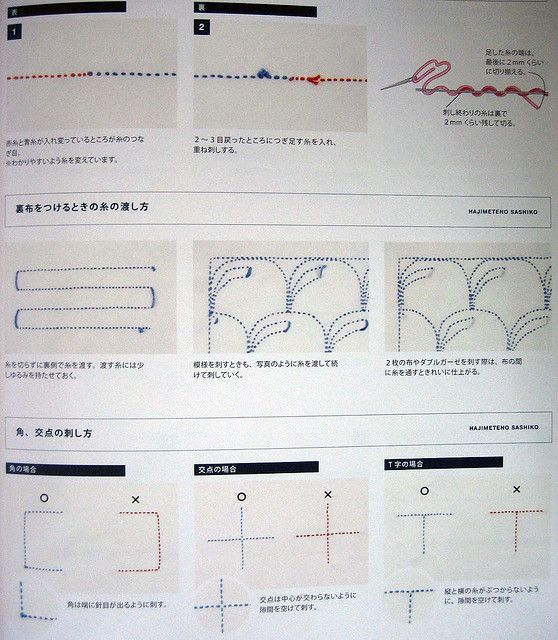 978452904565 easy handmade sashiko embroidery | Bordado, Bordado ...