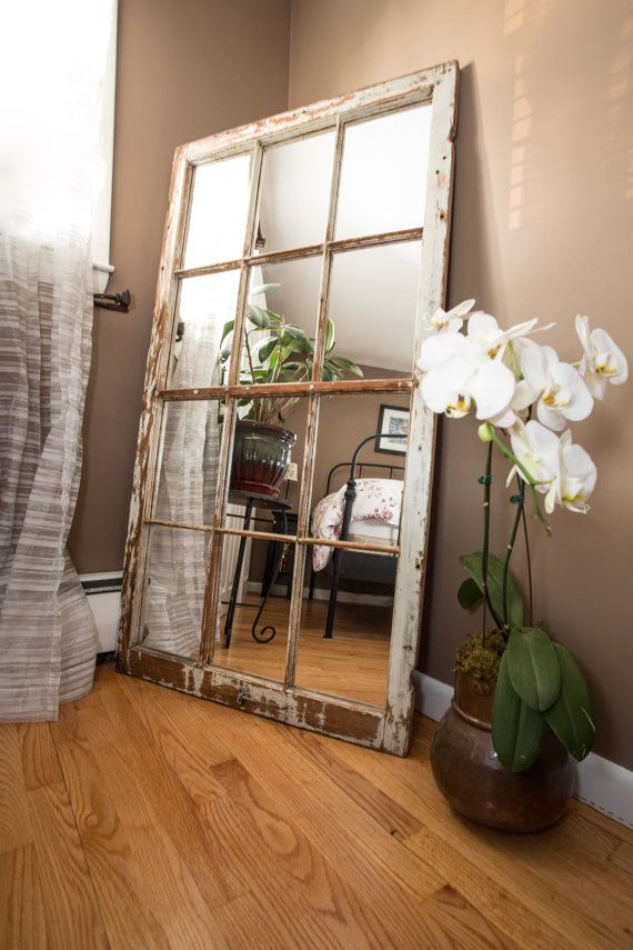 Reclaimed Large Antique Wood Window Mirror by jdrubicon06 on Etsy ...