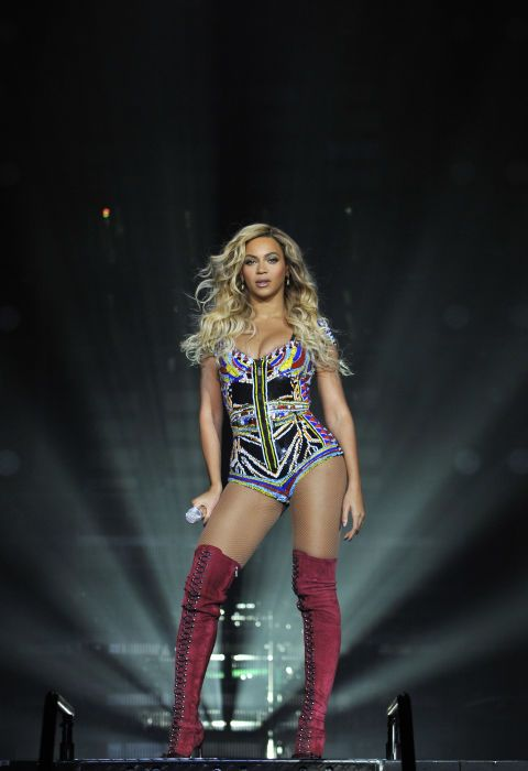 Performing on the Mrs. Carter World Tour in 2014. See all of Beyoncé's best looks.