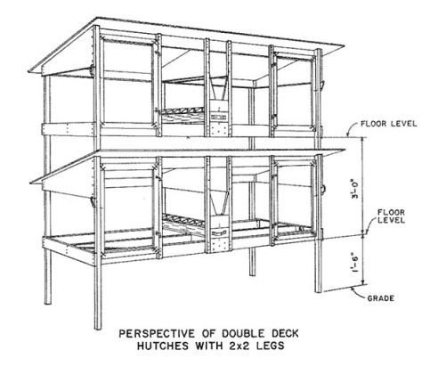50 free diy rabbit hutch plans ideas to get you started for Rabbit hutch plans easy