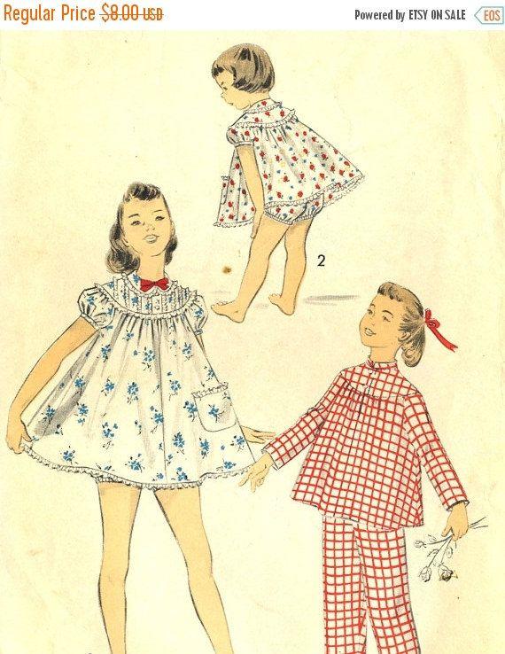 MOMSSale Vintage 50er Jahre voraus 7803 Mädchen Baby Doll Shortie ...