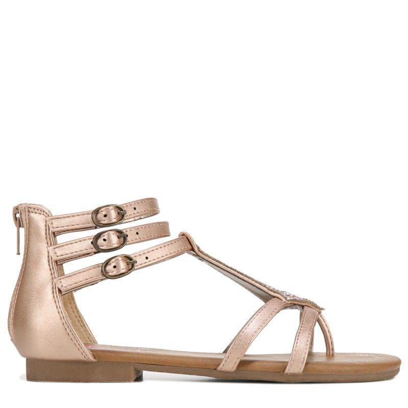 6e5ae9372e30 Jellypop Kids  Cyndi Sandal Pre Grade School Sandals (Rose Gold Shimmer)