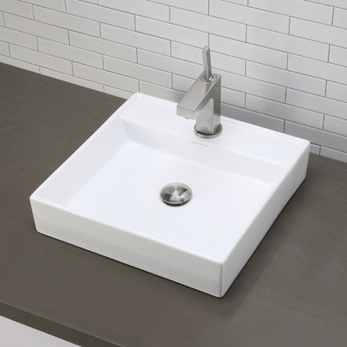 Found it at Wayfair - Classically Redefined Square Vessel Bathroom - Vessel Sinks Bathroom