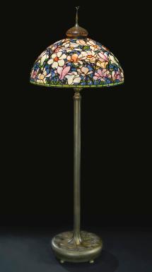 An Important And Rare Magnolia Floor Lamp Tiffany Studios