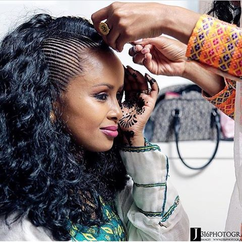 Bridal Hair Inspiration From The Horn Of Africa East African Bride Worki Habesha Hair