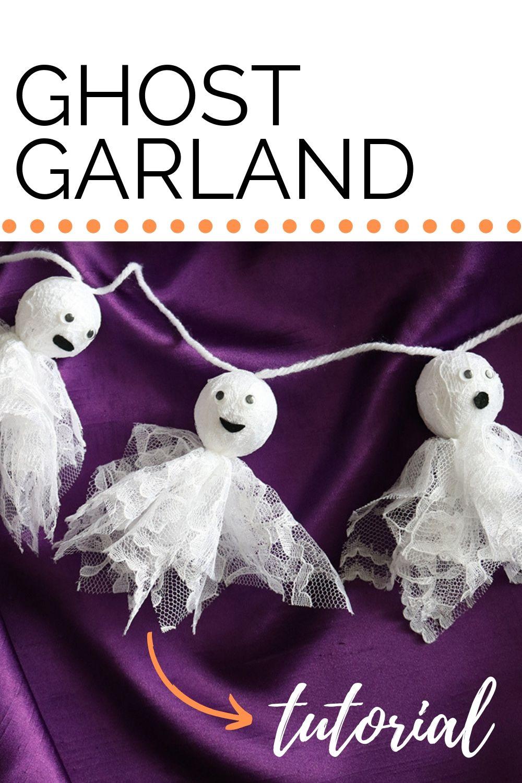 DIY Lace Ghost Halloween Garland Halloween garland