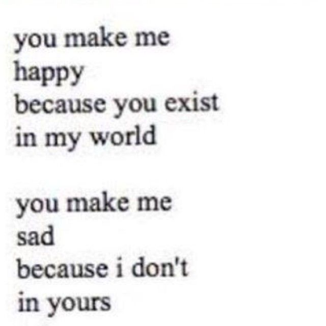 you make me sad quotes