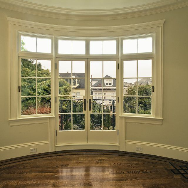 French Doors Exterior In Bay Window Google Search