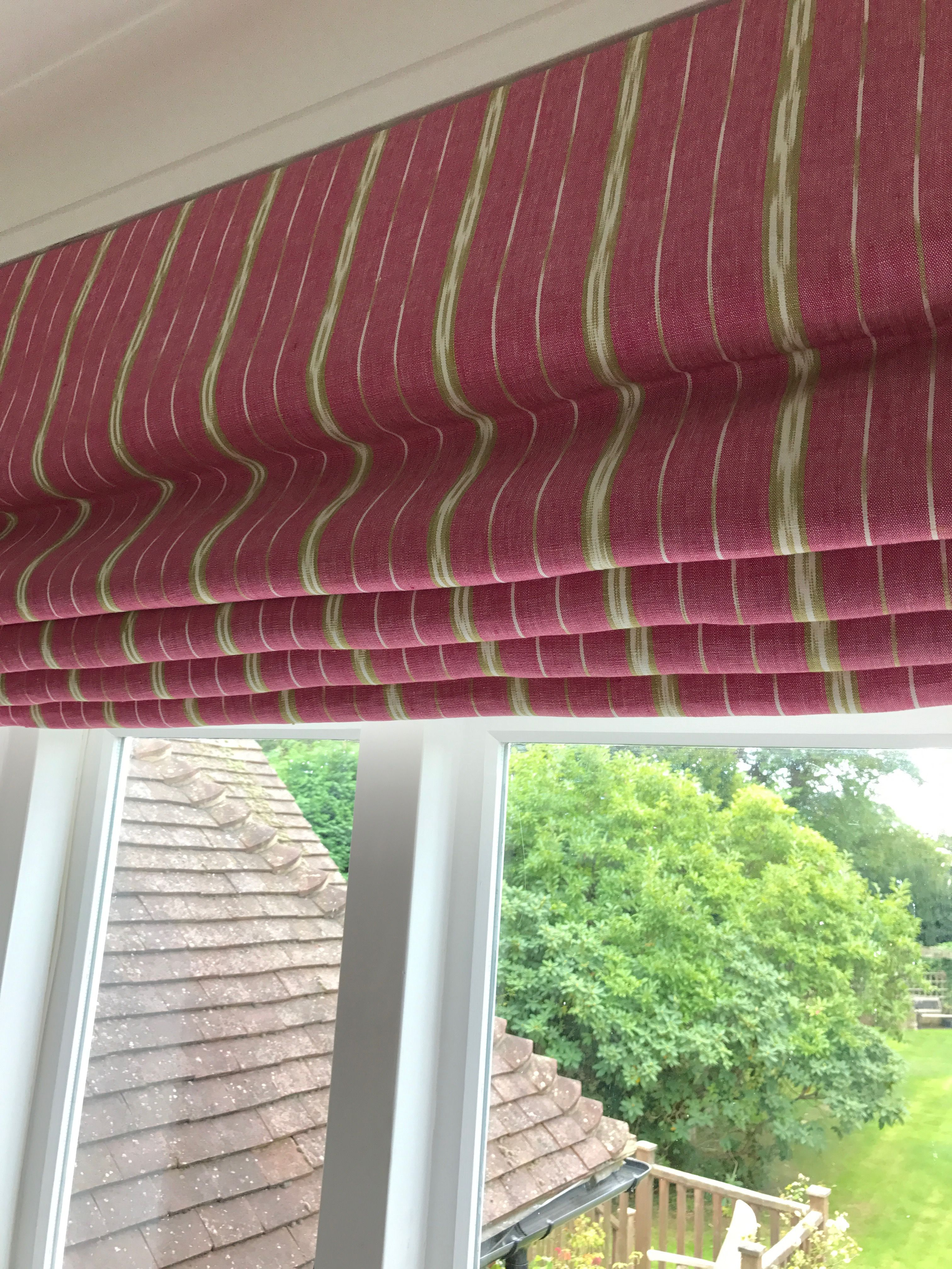 Window coverings for 2 story windows  roman blind made for a bathroom handmade by louise cowan interiors