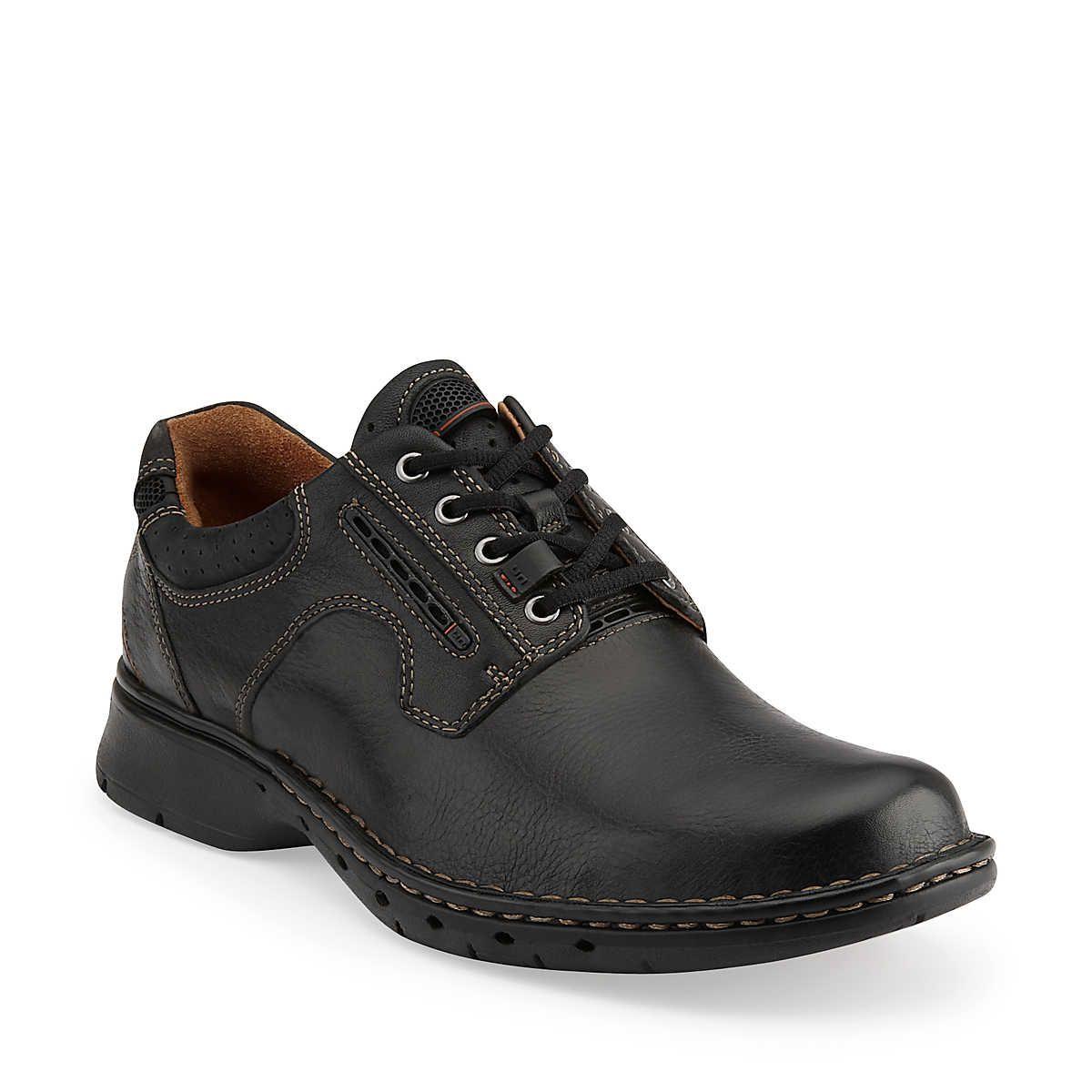 Un.Ravel in Black Leather - Mens Shoes