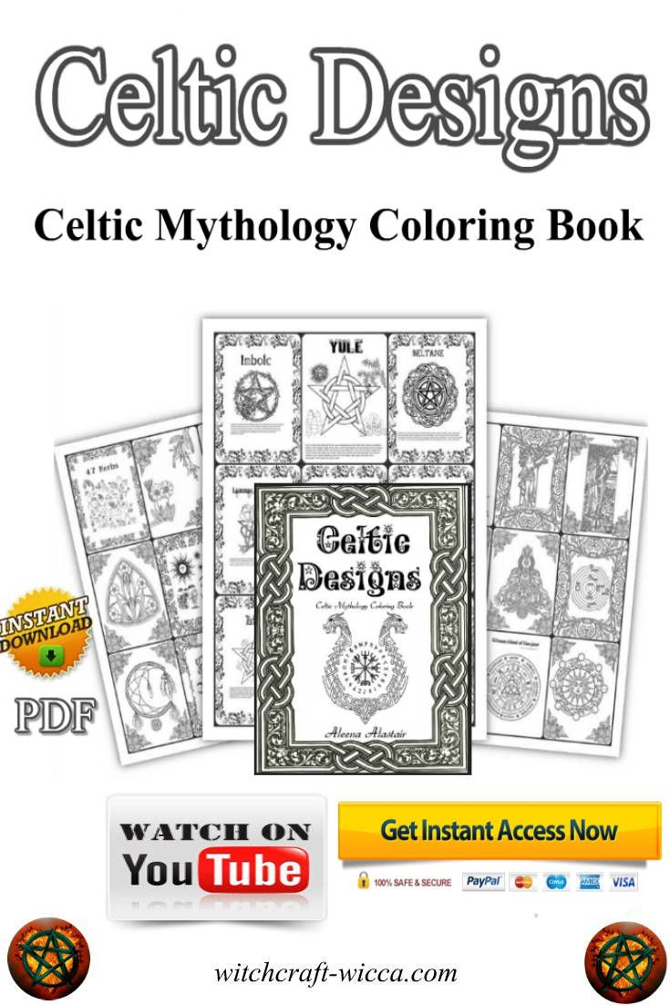 70 Celtic Coloring Pages Printable pdf, Celtic Knot, Mandala, Irish ...