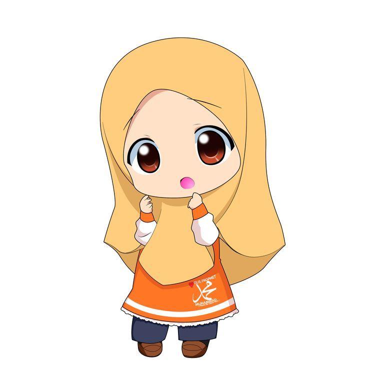 Hasil Gambar Untuk Clip Art Wanita Berhijab Kartun Animasi Ilustrasi Karakter