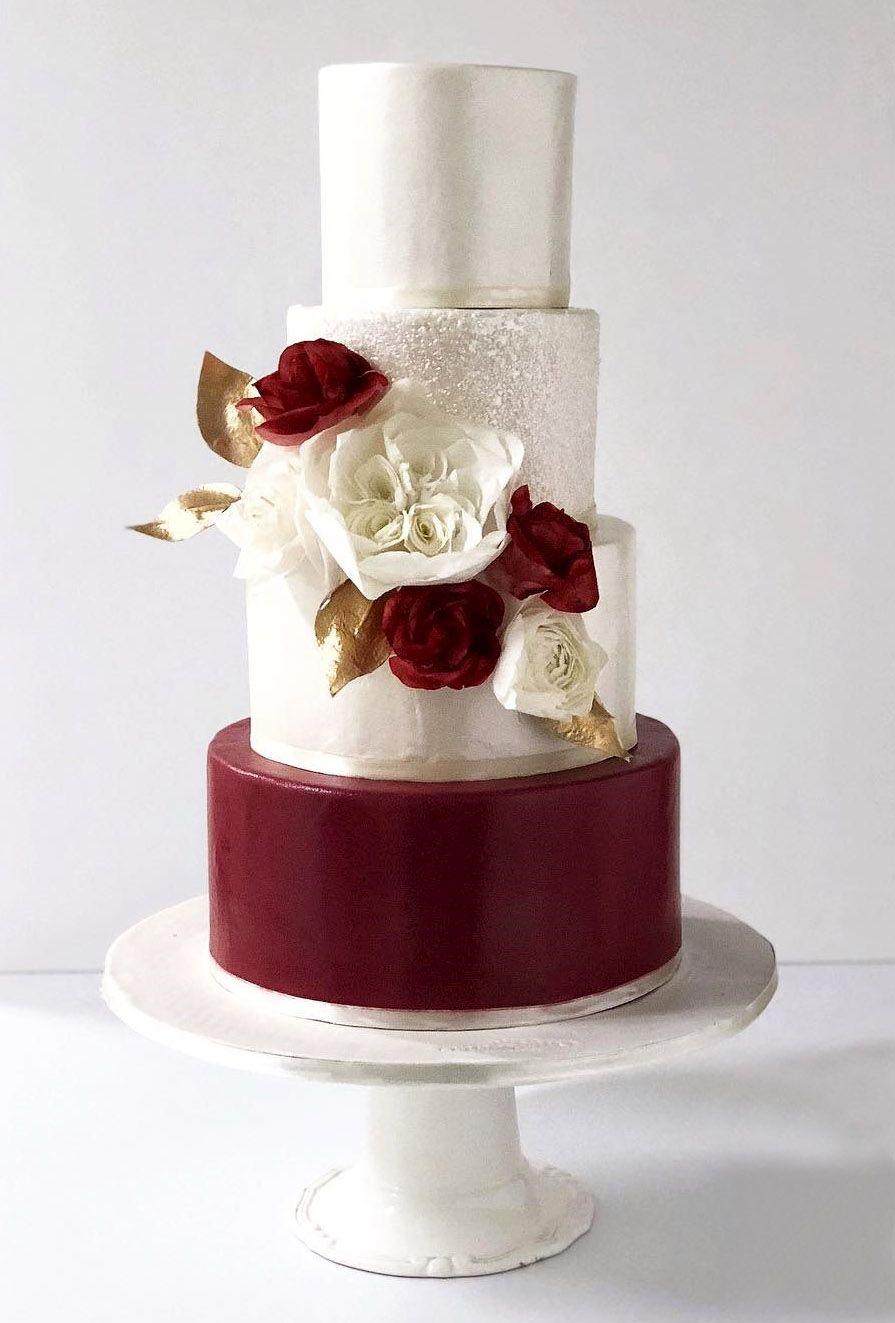 Burgundy Wedding Burgundy Silver Cake Mirnasoria Burgundy Wedding Cake Silver Wedding Cake Wedding Cake Red